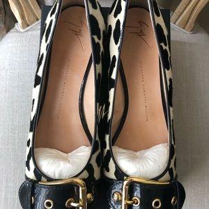 Giuseppe Zanotti Shoes - Giuseppe Zanotti Leopard Pony Hair Flats